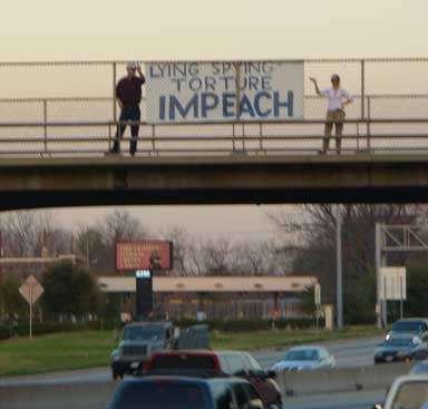 Freeway Blogging for Peace Commemorating 5th Anniversary of Iraq Invasion, 4 p.m. Thursday, March 20, Hwy 59 Bridges