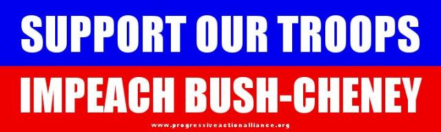 Impeach Bush-Cheney Bumper Sticker