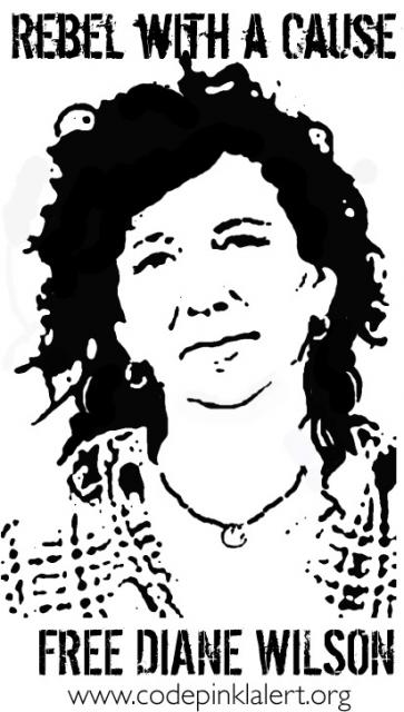 """""""Free Diane Wilson - Rebel with a Cause"""" poster"""